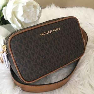 Michael Kors small connie camera crossbody bag